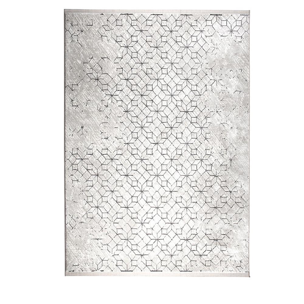 Tapis Motifs Geometriques Noir Et Blanc Yenga Zuiver