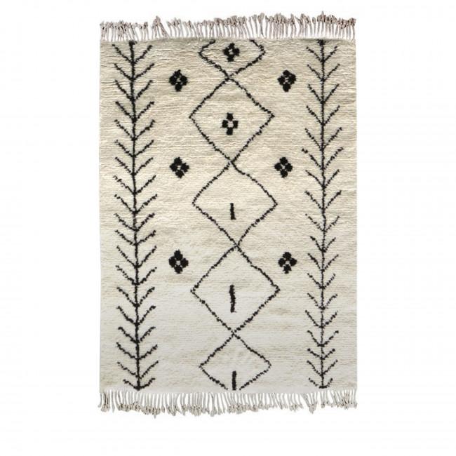 Tapis berbère laine beige et gris Carry Patta