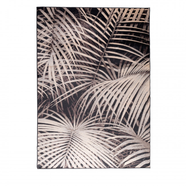 Tapis motif palmier noir Palm by Night Zuiver