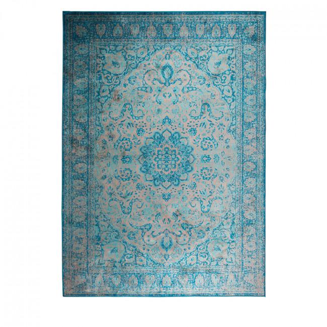 Tapis motifs orientaux bleu Chi