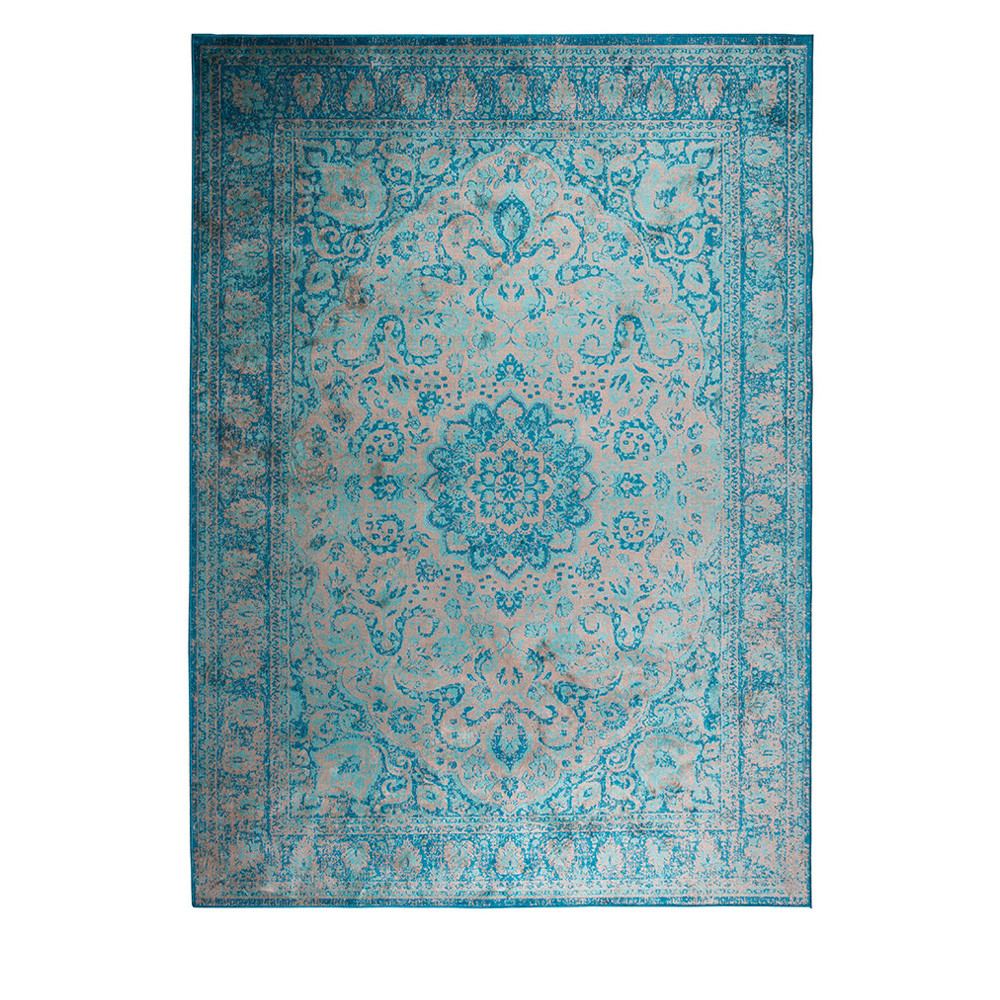 tapis motifs orientaux bleu chi. Black Bedroom Furniture Sets. Home Design Ideas