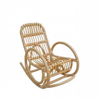 Rocking chair vintage en rotin Kids