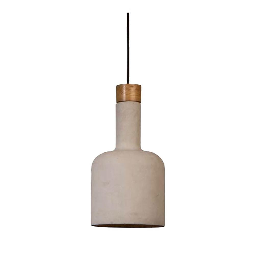 Suspension Design Bois - Suspension béton& bois Bottle par Drawer fr