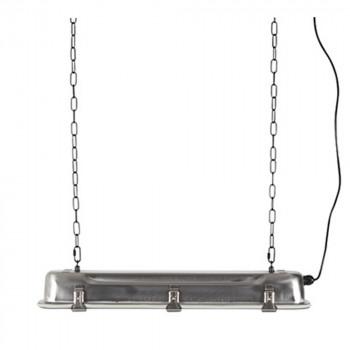 Suspension industriel métal L G.T.A. finition noir mat