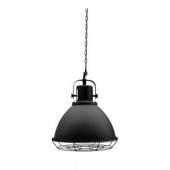 Suspension industrielle métal ZIL Label 51 Noir