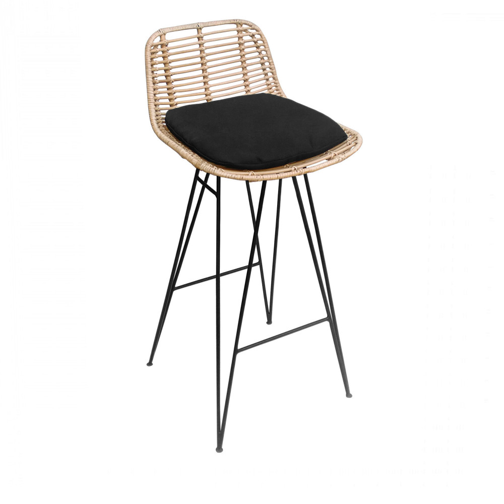 Chaise De Bar Noir Tabouret De Bar Design En Bois Et Abs