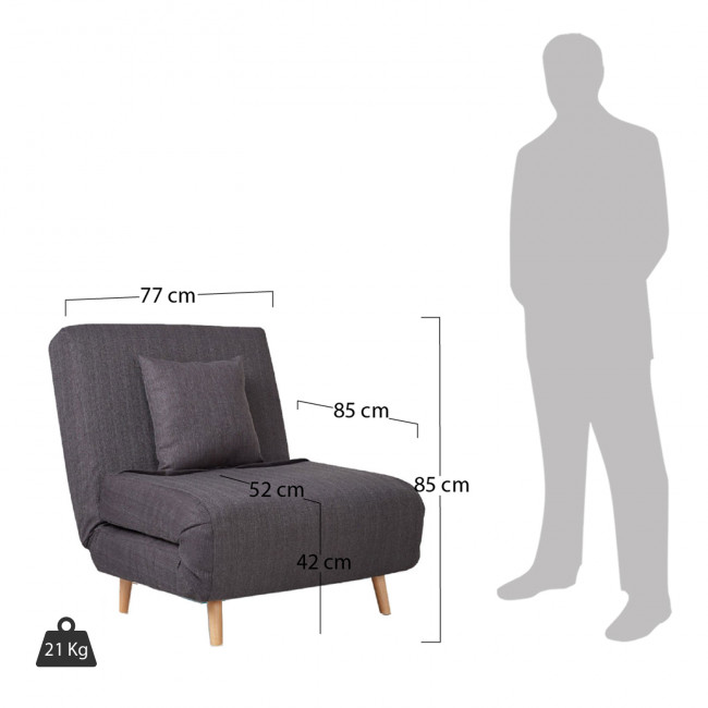 Lit Place 1 Adron Convertible Fauteuil e2IDW9YEHb