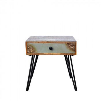 Table de chevet vintage en bois Fusion de Drawer