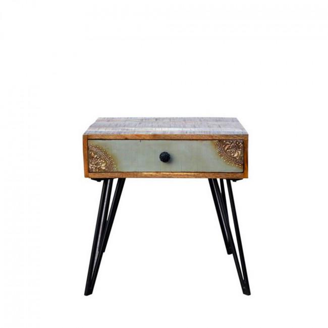 Table de chevet vintage en bois Fusion de Drawer