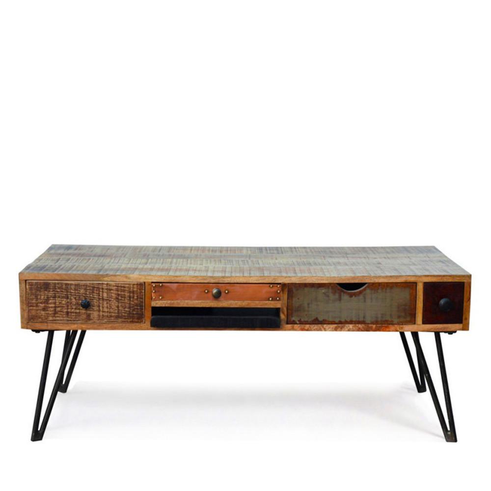 table basse vintage en bois fusion by drawer. Black Bedroom Furniture Sets. Home Design Ideas