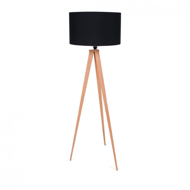 Lampadaire Tripod Wood noir