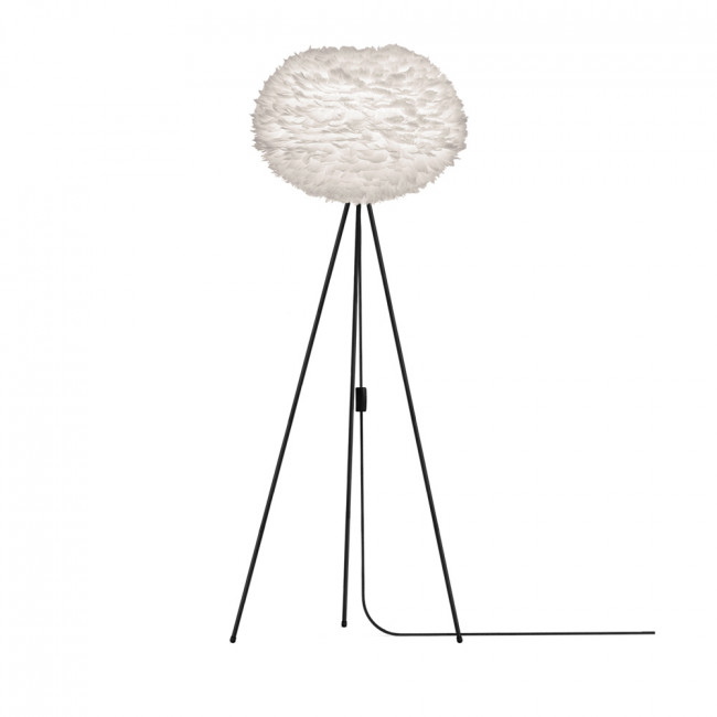 Lampadaire design Eos pied noir medium