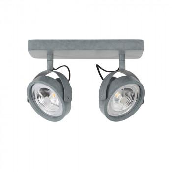 Applique/plafonnier design LED double Dice gris