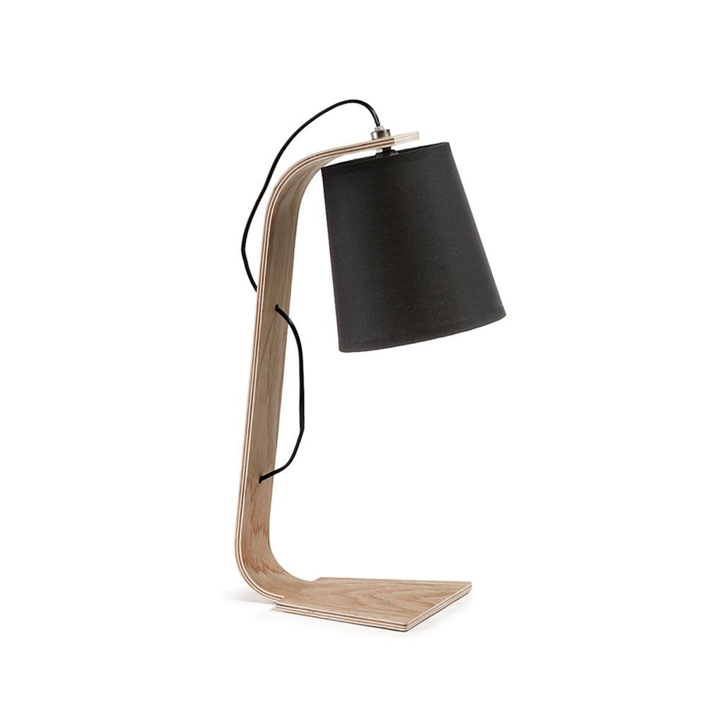 lampe poser bois et textile repcy par. Black Bedroom Furniture Sets. Home Design Ideas