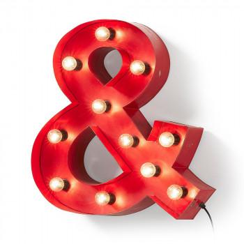 Lampe à poser en métal rouge Basel