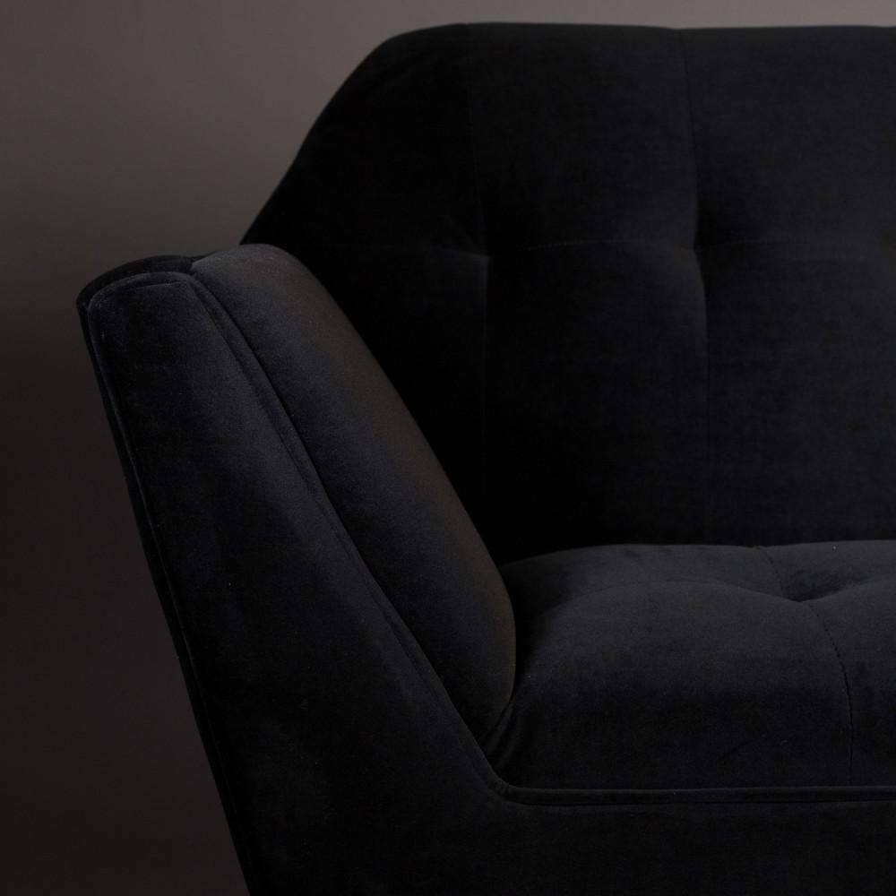 fauteuil lounge velours kate dutchbone drawer. Black Bedroom Furniture Sets. Home Design Ideas