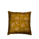 Coussin vintage 50x50cm Indian Block Dutchbone Jaune