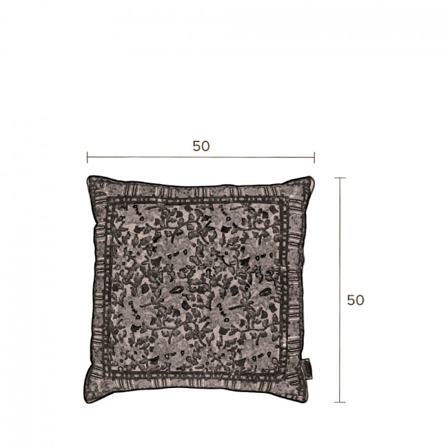 Coussin vintage 50x50cm Indian Block Dutchbone