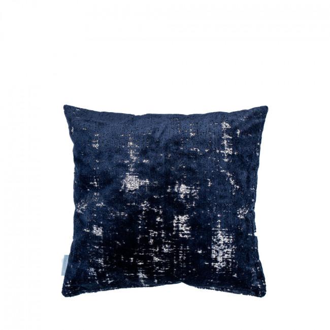 Coussin vintage 45x45cm Sarona Zuiver Bleu foncé