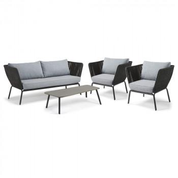 fauteuil vintage de jardin bois et corde belleny by. Black Bedroom Furniture Sets. Home Design Ideas
