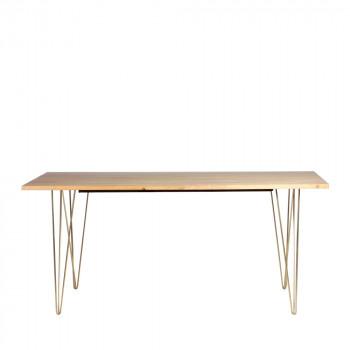 Table à manger en bois 175*90cm ArtDéco