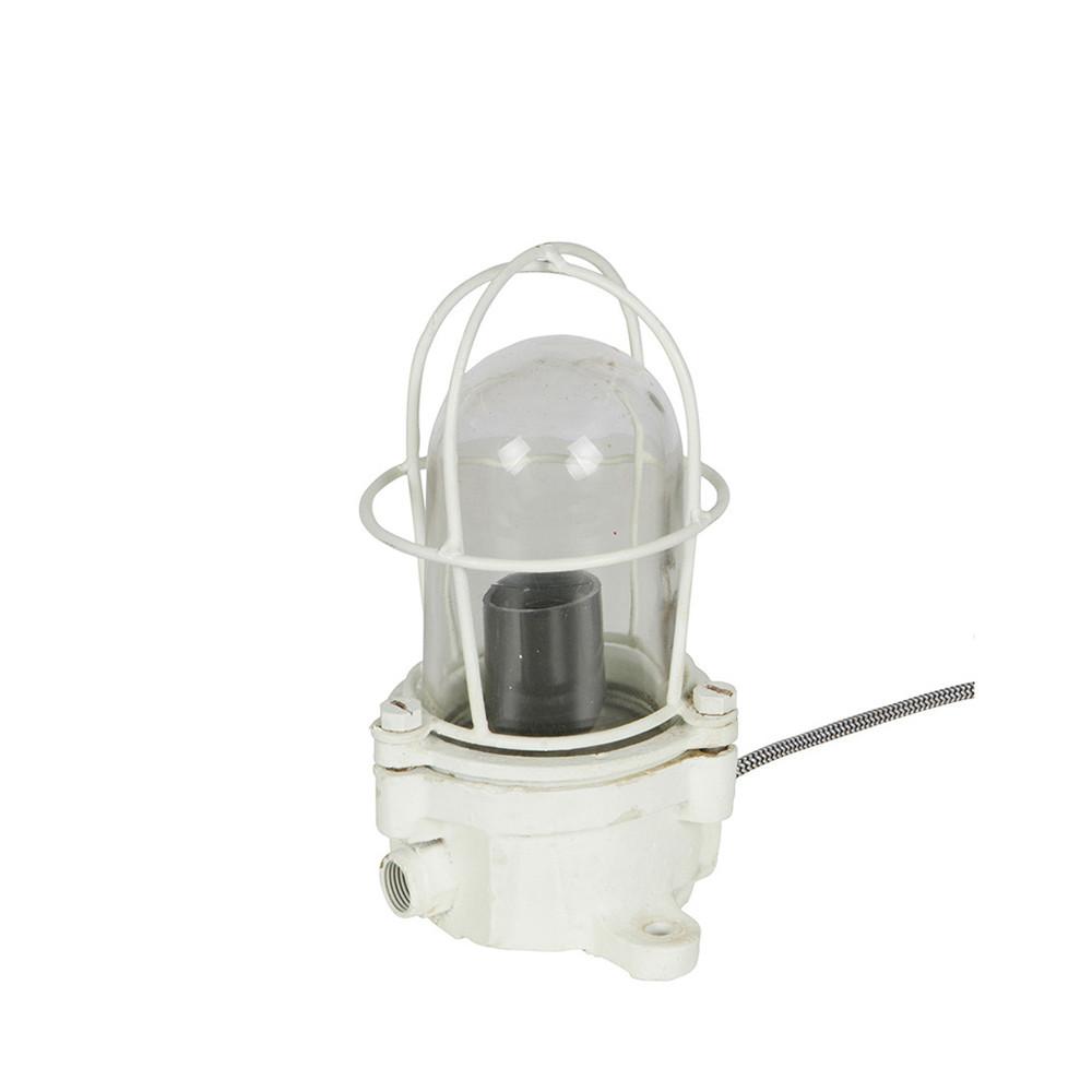 lampe poser industrielle m tal blanc shiplight by drawer. Black Bedroom Furniture Sets. Home Design Ideas