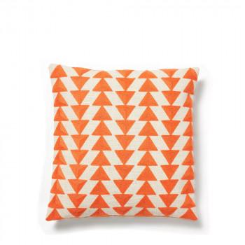Coussin à motifs brodés 45x45cm Ystad Orange
