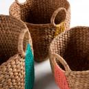 Lot de 3 paniers fibre naturelle Maja