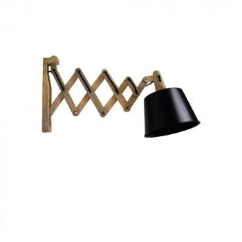 Applique articulée métal et bois Harmonica Label 51 Noir
