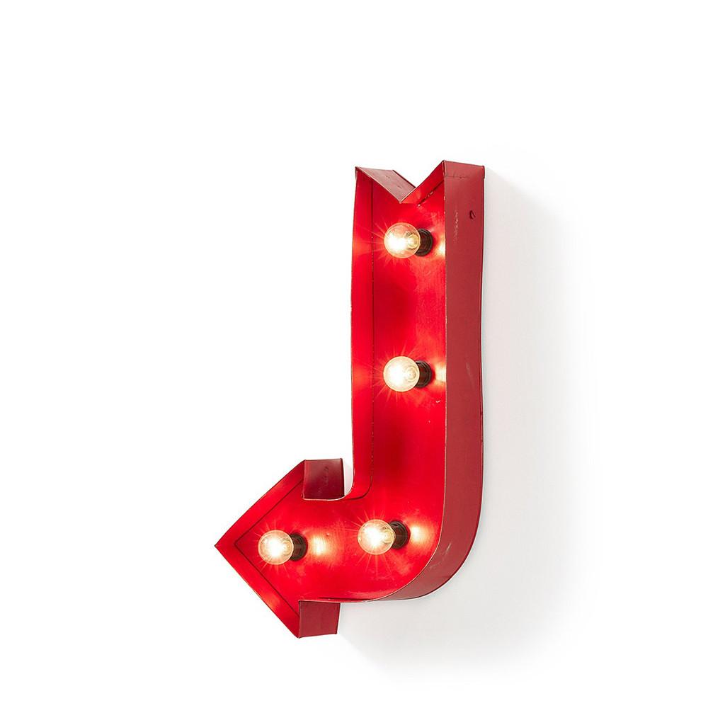 Lampe fl che m tallique rouge arcos par for Decoration murale fleche