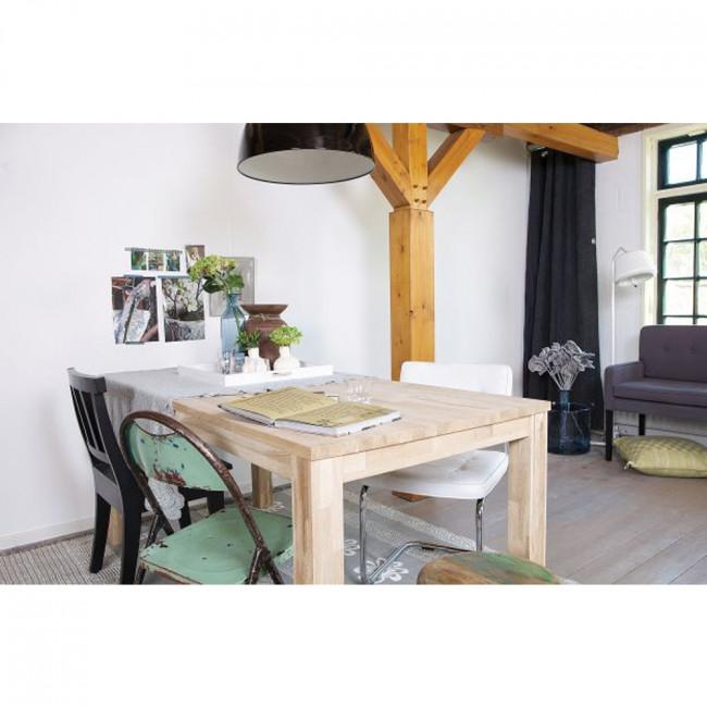 Table à manger en chêne Roel 130*130