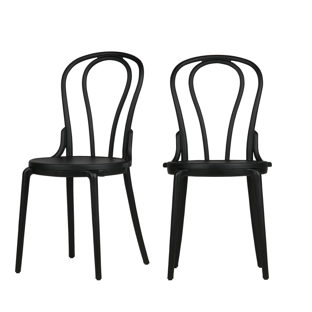 lot de 2 chaises style bistrot en r sine bibi drawer. Black Bedroom Furniture Sets. Home Design Ideas