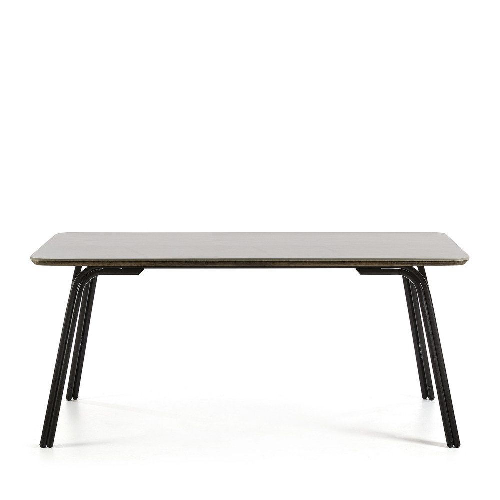 table manger m tal et ciment indoor outdoor vernon drawer. Black Bedroom Furniture Sets. Home Design Ideas