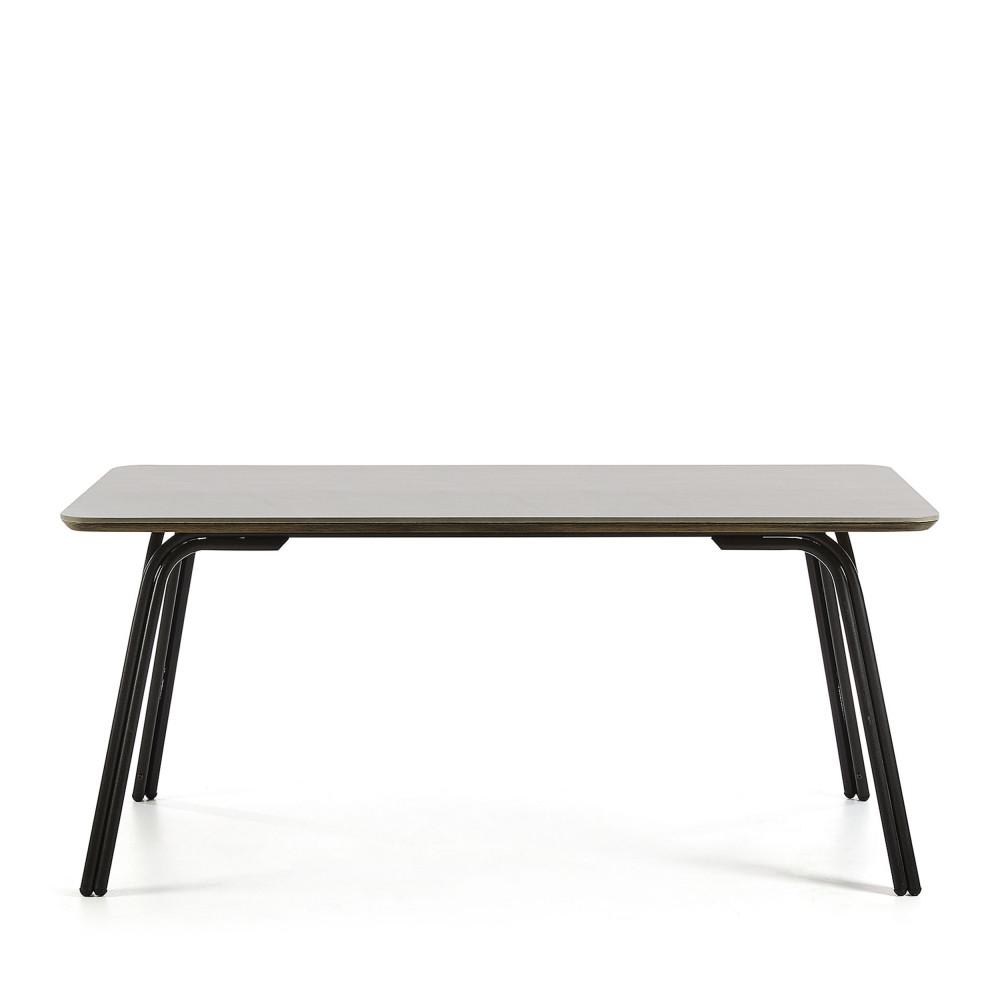 Table manger m tal et ciment indoor outdoor vernon drawer - Table a manger exterieur ...