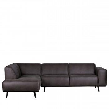 Canapé d'angle gauche croûte de cuir Statement