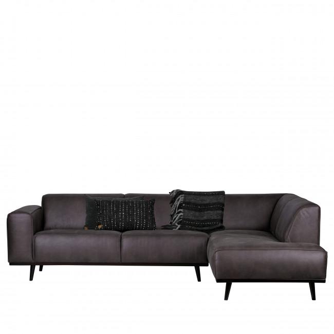 Canapé d'angle droit croûte de cuir Statement