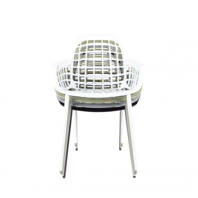 Lot de 2 chaises en résine indoor/outdoor Albert Kuip