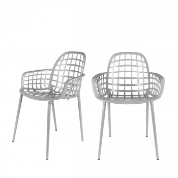 Lot de 2 chaises en résine indoor/outdoor Albert Kuip