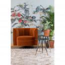 Fauteuil lounge effet velours Flower Dutchbone orange