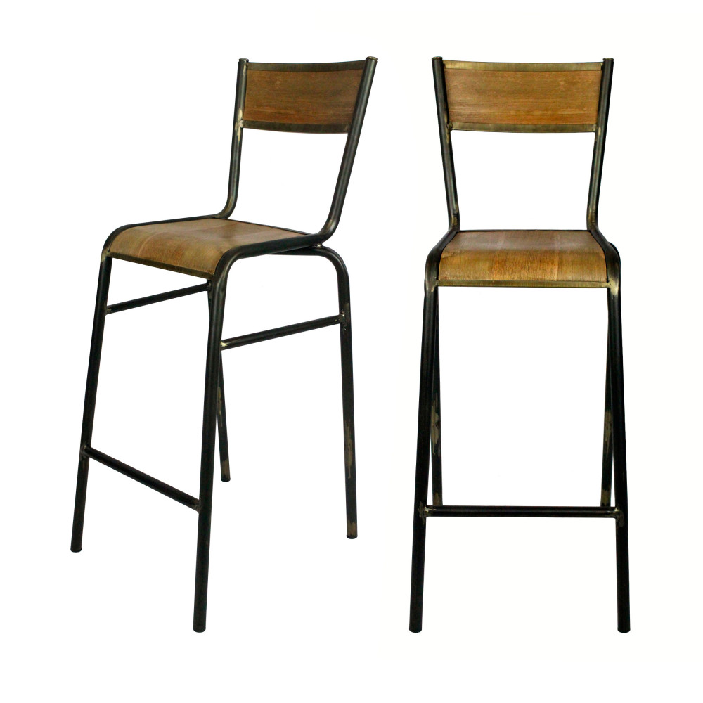 lot de 2 chaises de bar 74cm pilot redcartel drawer. Black Bedroom Furniture Sets. Home Design Ideas