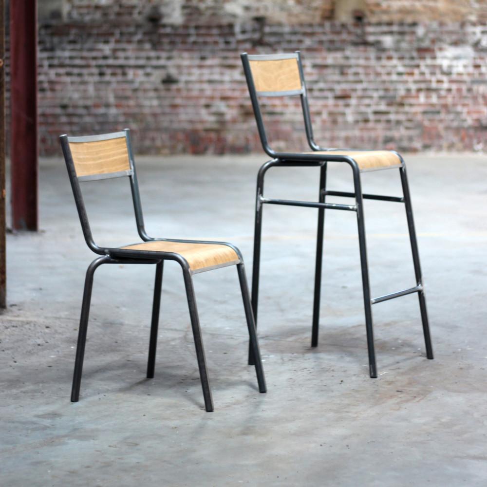 lot de 2 chaises de bar 74cm pilot redcartel drawer. Black Bedroom Furniture Sets. Home Design Ideas