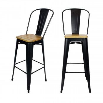 Lot de 2 chaises de bar 77cm Tucker RedCartel