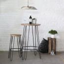 Table de bar métal et bois ø60 Scoop RedCartel