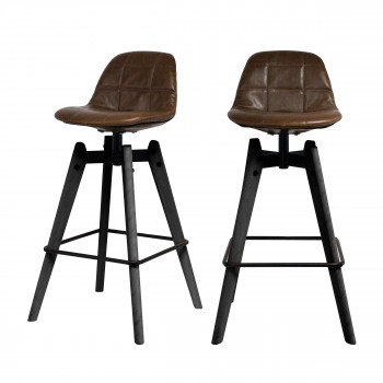 Lot de 2 chaises de bar 76cm Mercury RedCartel