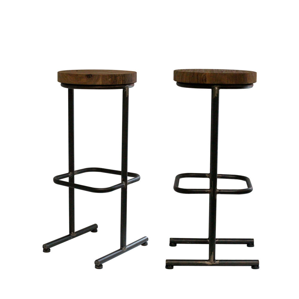lot de 2 tabourets de bar en bois 76cm polder redcartel drawer. Black Bedroom Furniture Sets. Home Design Ideas