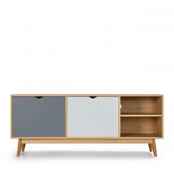 meuble tv design 2 portes chne strm - Meuble Nordique