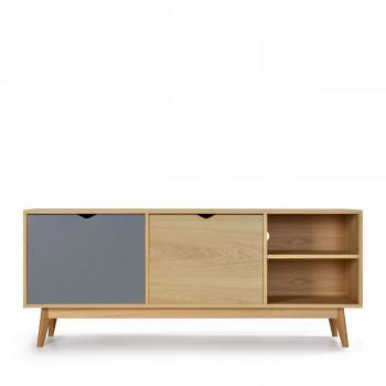 meuble tv chne par drawer - Meuble Tv