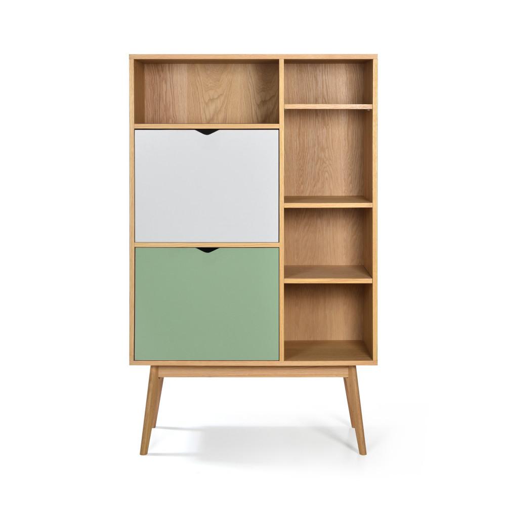 Meuble De Rangement Haut Salon.Strom Buffet Haut Design 2 Portes Chene
