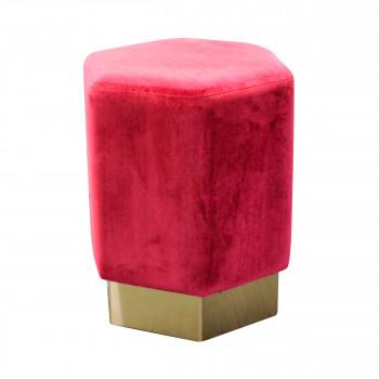Pouf design velours Roggy RedCartel