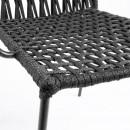 Lot de 4 chaises métal et corde Bettie